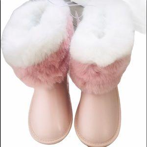 CHILDREN'S PLACE | Pink Faux Fur Boots NWT